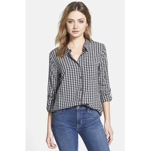Soft Joie Anabella Gingham Button Down Shirt XS